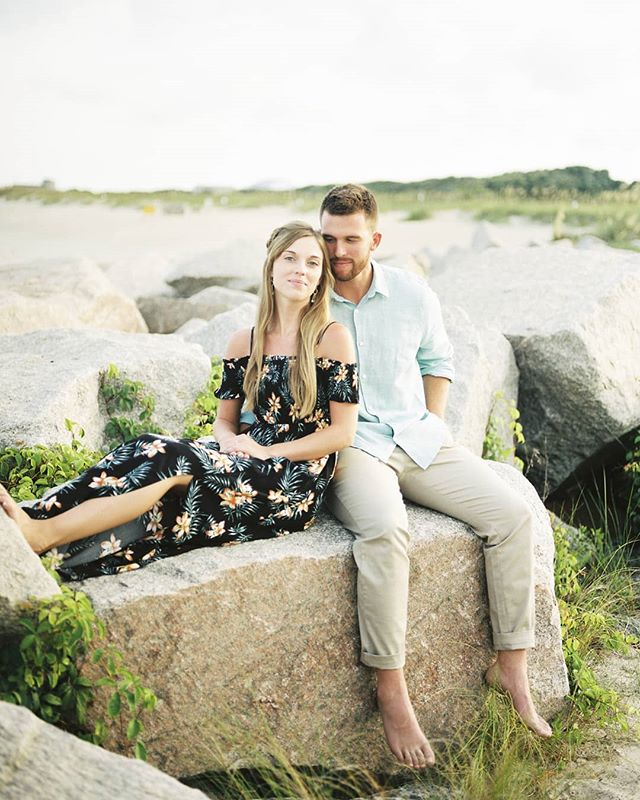 Fort Fisher, Kure Beach, NC engagement photos on the blog!  #fortfisher #kurebeach #engagementphotos