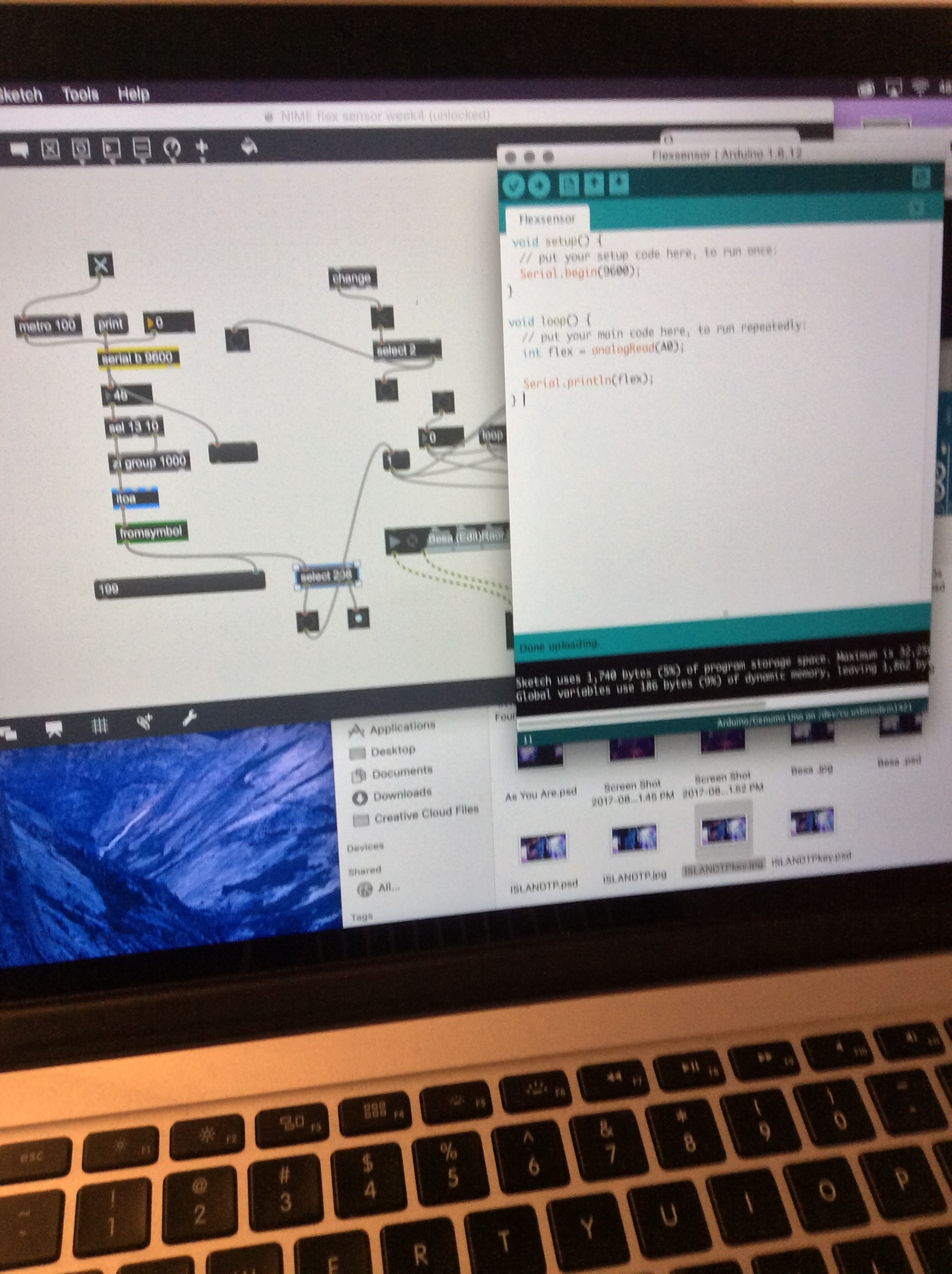 Arduino Code IDE and MAX Patch