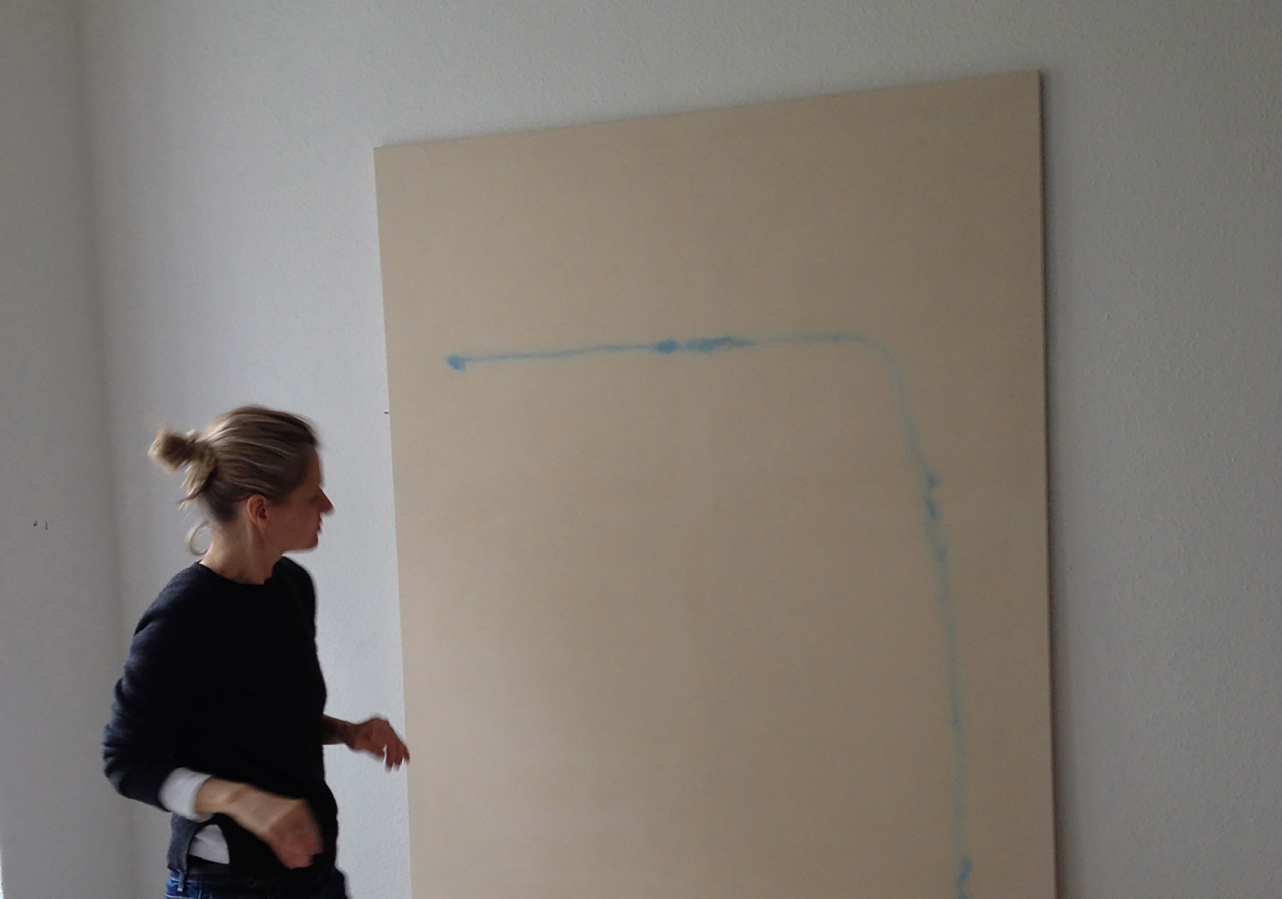 Untitled  (work in progress), 2016 acrylic on stretched raw cotton canvas 230 x 130 cm Refer to first blog post image for finished work