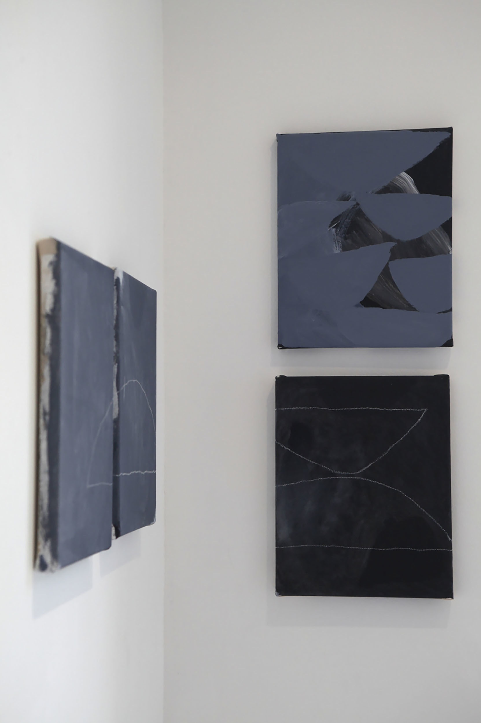 Untitled , 2014 gesso, acrylic and pencil on stretched canvas 30 x 24 cm each (H x W cm)  11.8 x 9.4 inches SOLD