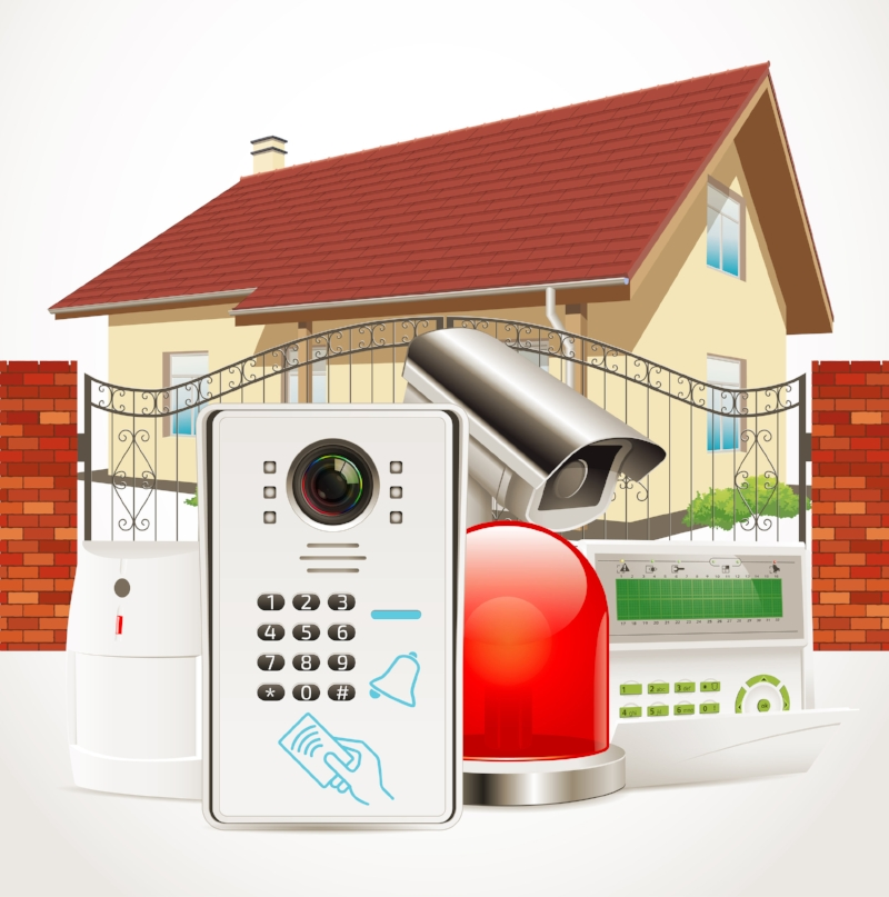 home security system including doorbell camera