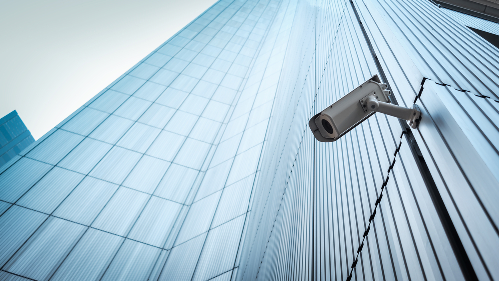 security camera on chicago highrise