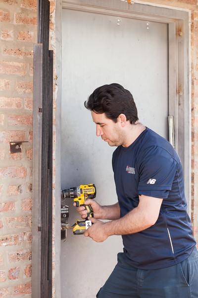 The Professional Locksmith can reinforce doors and install deadlocks