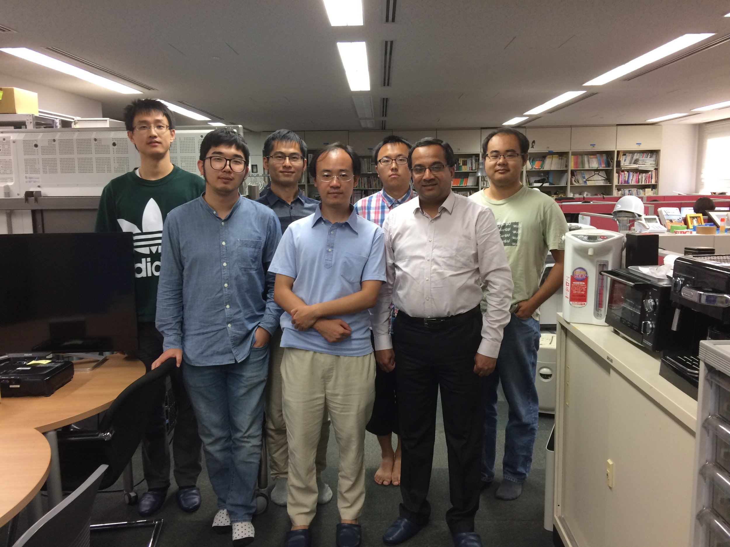 With students and Dr. Xuan Song at Intelligent Perception and Urban Computing Lab at the University of Tokyo.