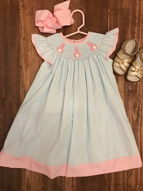 Smocked Auctions Preorder Dress / Salt Water Sandals from Nordstrom