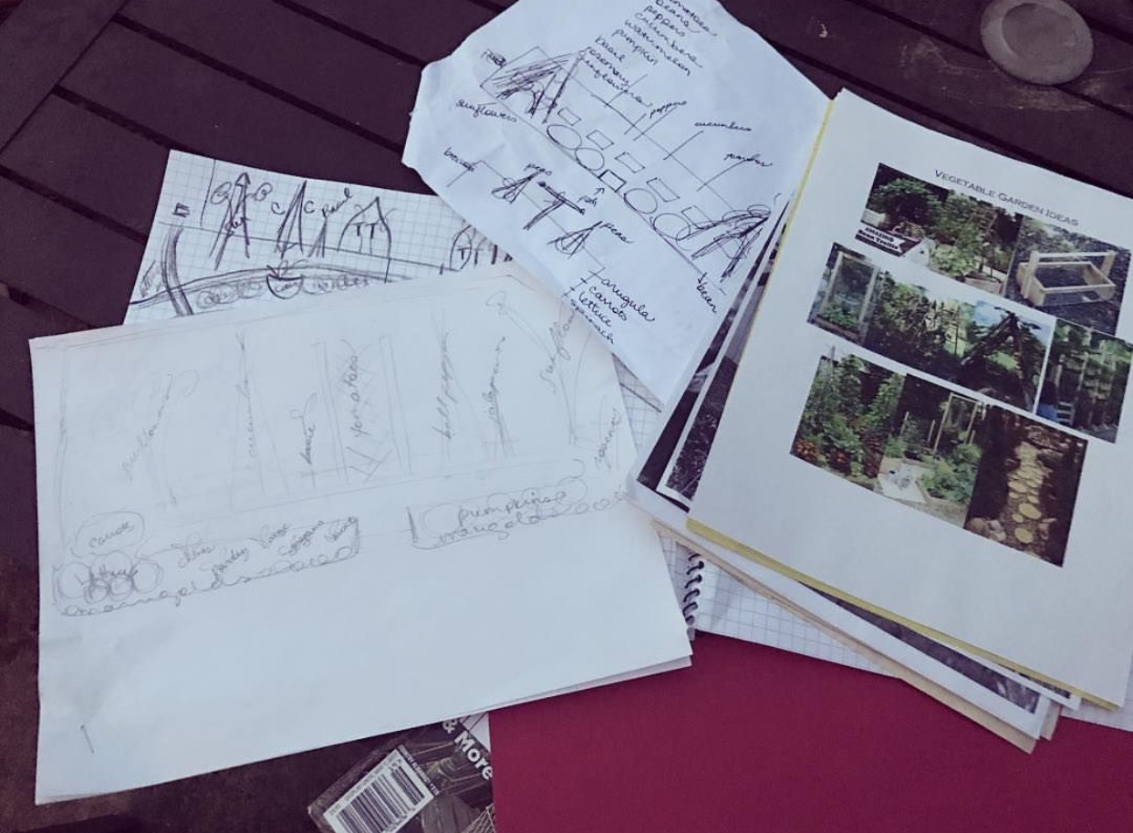 Planning the layout of my spring garden this year