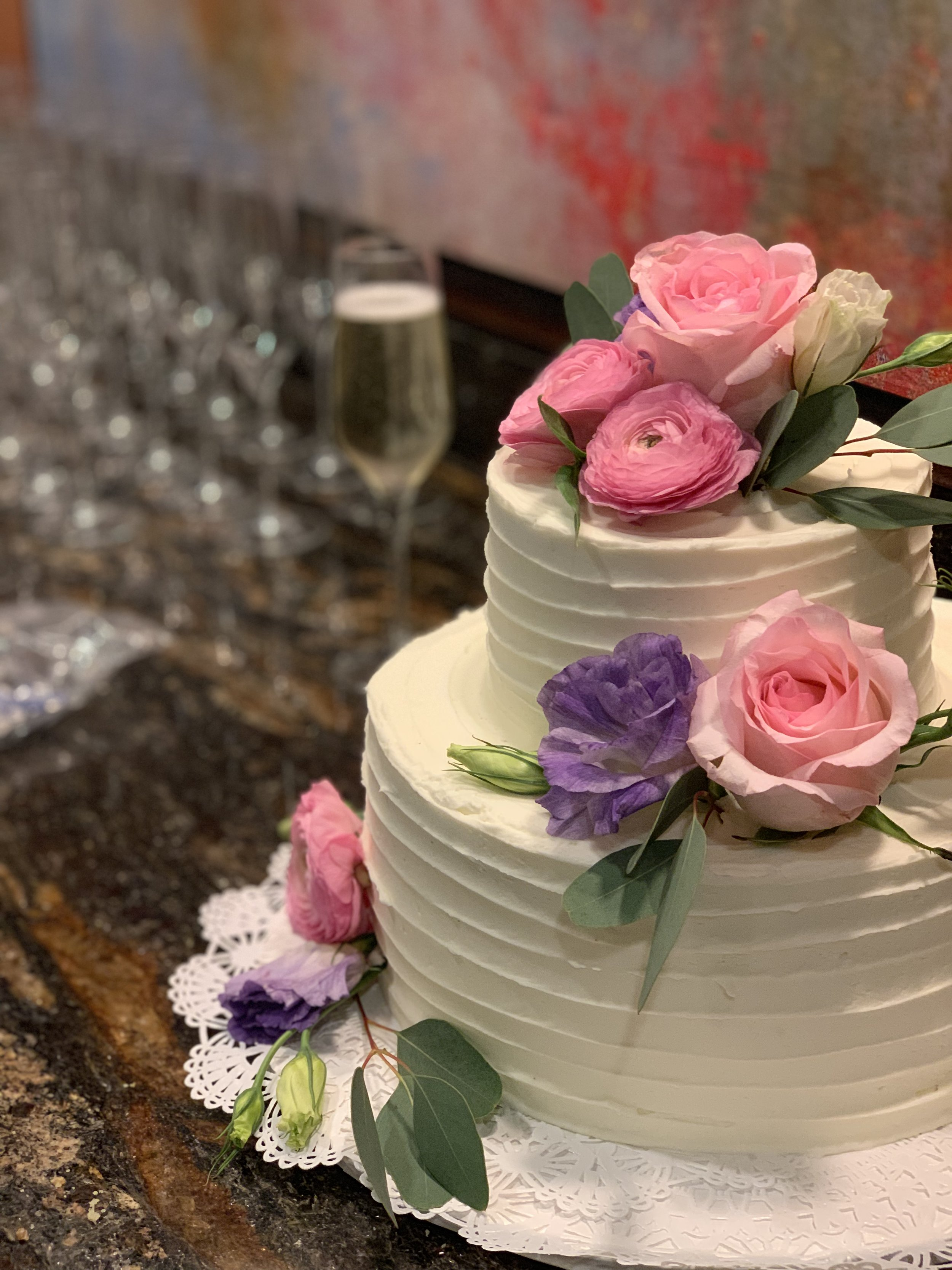 A cake and Prosecco toast in Kansas City