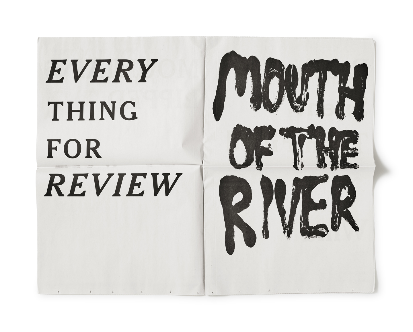 Reviewing the Review, Everything for Review (Broadside Poems) - 2017