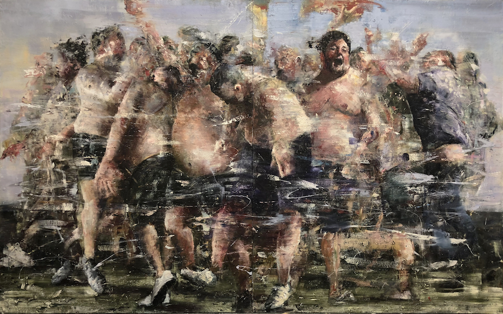 Grand Mal, Oil on Linen, 100 x 160 inches, 2017