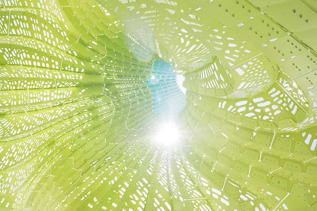 DRAMATIC LIGHTNESS INPLEATED CURVATURE -