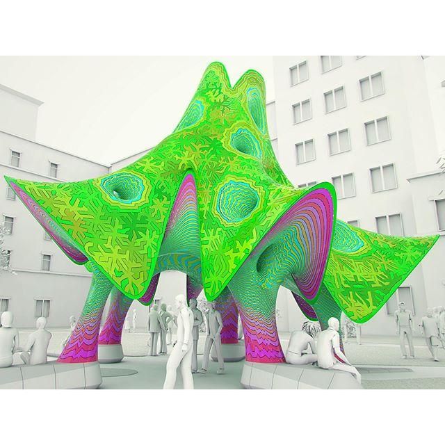 Lone star fantasy... . . . . #texasstateuniversity #txst #proposal #pavillion #folly #kiosk #architecturalcanopy #canopy #concept #publicart #placemaking #landmark #campusart #architecture #architect #geometry #geometryclub #urbangeometry #geometrydesign #complexgeometry #camo #camouflage #puzzlepieces #lookup #marcfornes #theverymany