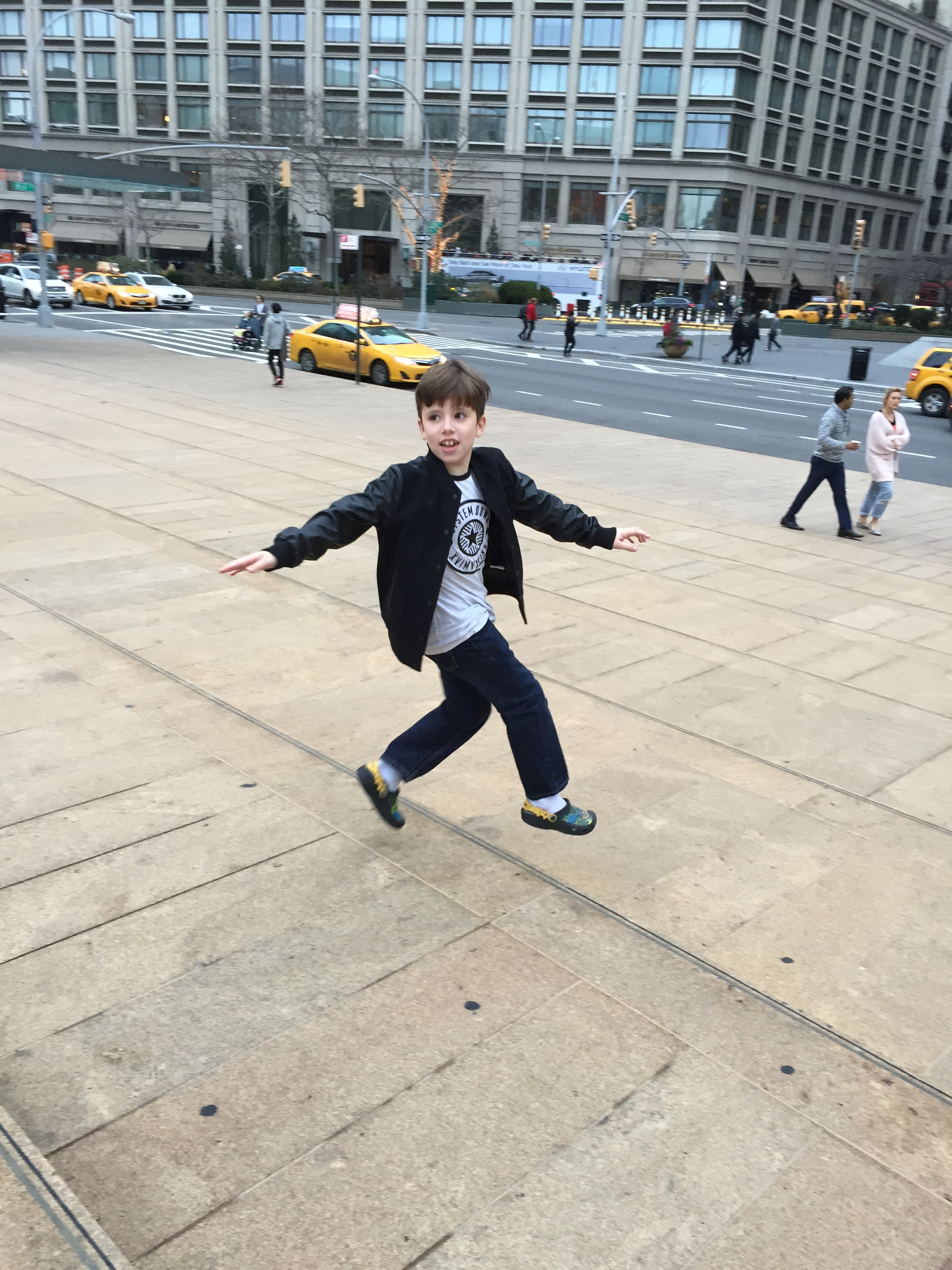 This was Leo a few years ago having a Billy Elliott moment at Lincoln Center.