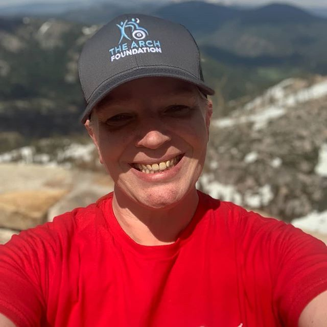 TAF scholarship winner Melody Slusher enjoying some mountain air and self-care. Another day of summit fun with  @nobarriersusa @a.life_in.progress #caringforcaregivers #familycaregiving #summitwithus #selfcare #familycaregiving #HiddenHeroes#
