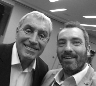 With Englands most capped player of all time Peter Shilton at recent conference
