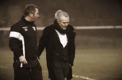 Jimmy and I discussing our solutions before our half time team talk
