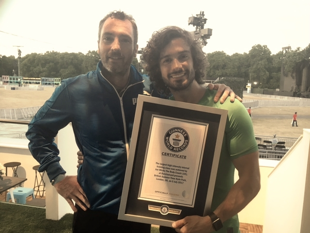 """Solutionsmindset delighted to be the official timekeeper for the """"body coach"""" Joe Wicks World Record held at Hyde Park, London.  Joe Wicks say: """"My massive thanks to Steve for his assistance in my world record. His business is second to none in the world of mindset and self improvement. A trusted and well respected man throughout the Uk and beyond. Get him in your life!   https://youtu.be/mqaF1OgLB_8"""