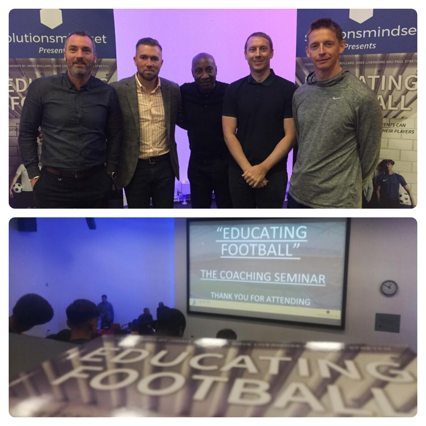 EDUCATING FOOTBALL - THE SEMINAR.  GREENWICH UNIVERSITY - 25TH MAY 2019