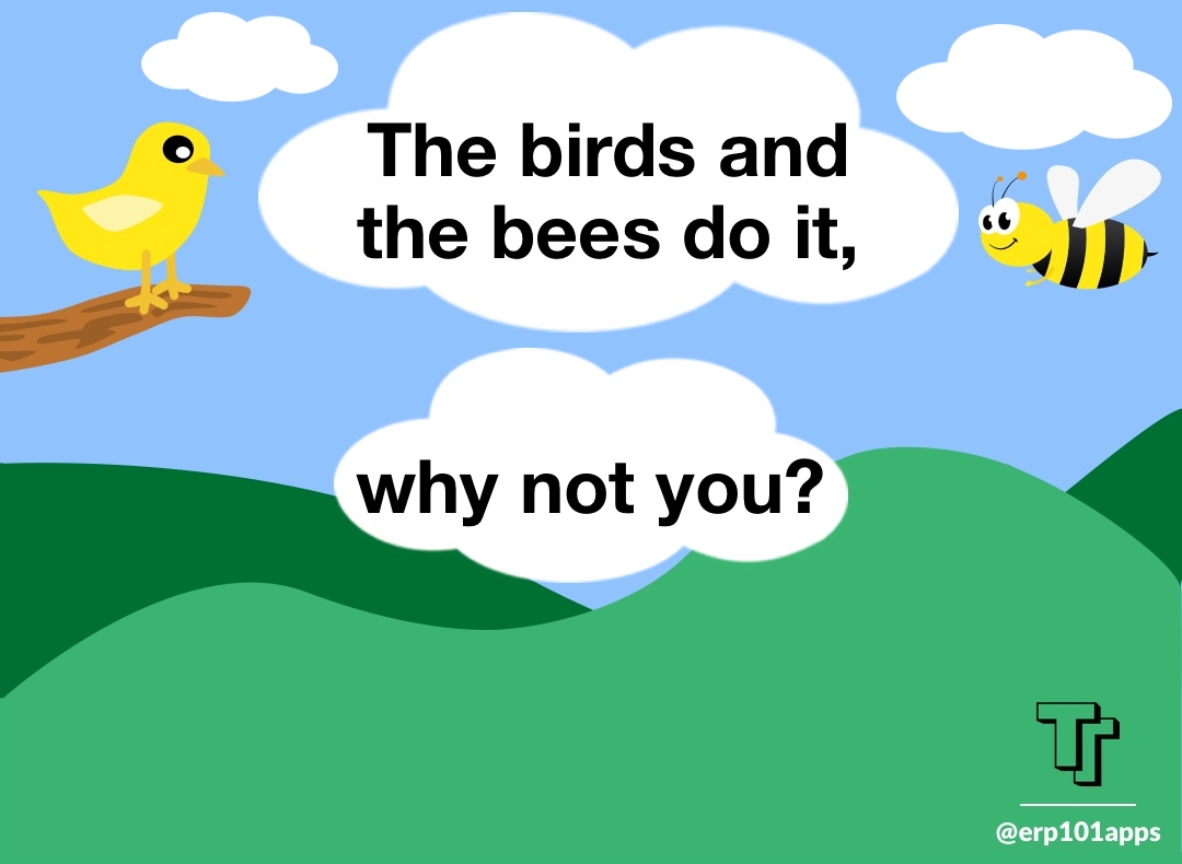 The birds and the bees so it article about small business flocking theory