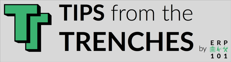 Tips from the Trenches blog by ERP 101 for social media success stories