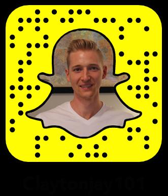 Claytonjay101 Snapchat social media snapcode