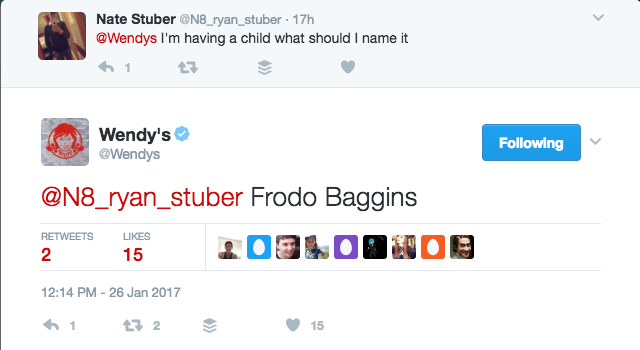 Tweet to Wendy's on social media about their awesome Twitter account 4