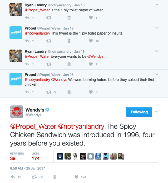Tweet to Wendy's on social media about their awesome Twitter account 1