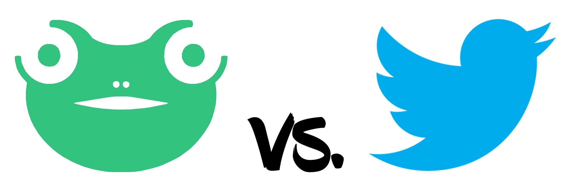 Social network Gab vs. Twitter