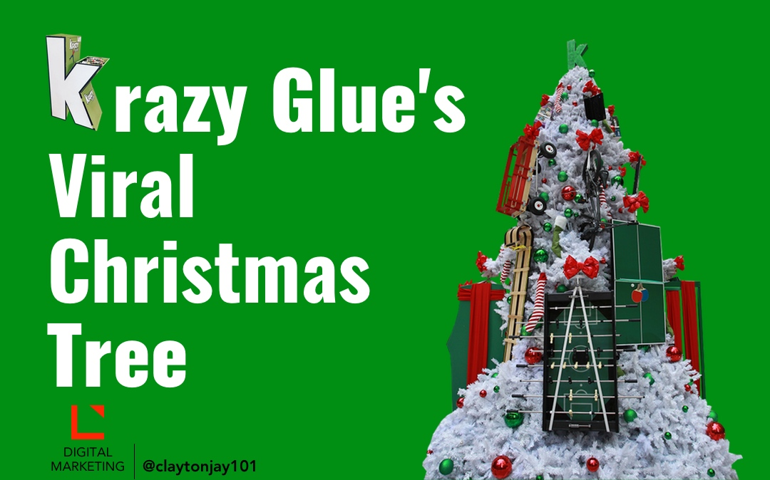 Picture for story about Krazy Glue's viral Christmas tree shared on YouTube and Facebook