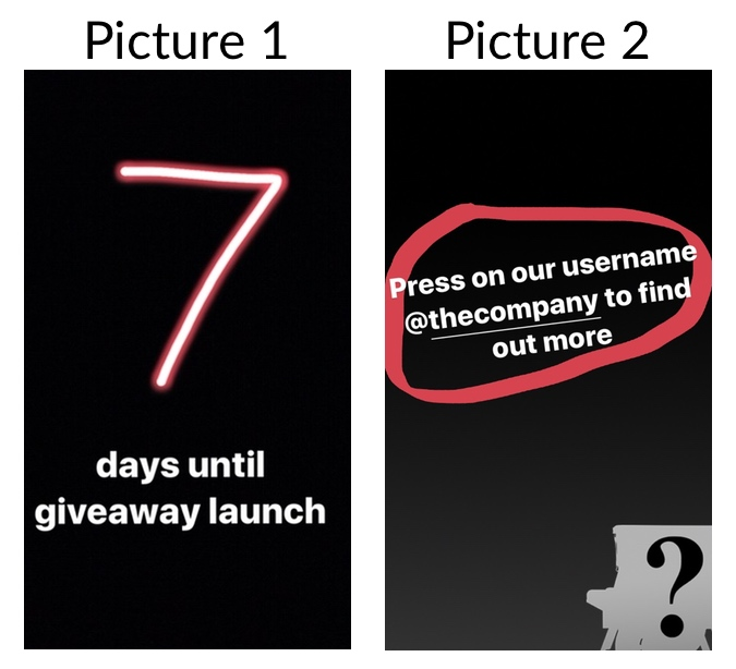 Instagram Stories and the social media giveaway promotion
