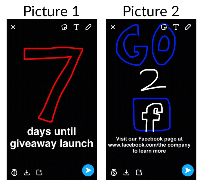 Snapchat and promoting the social media giveaway