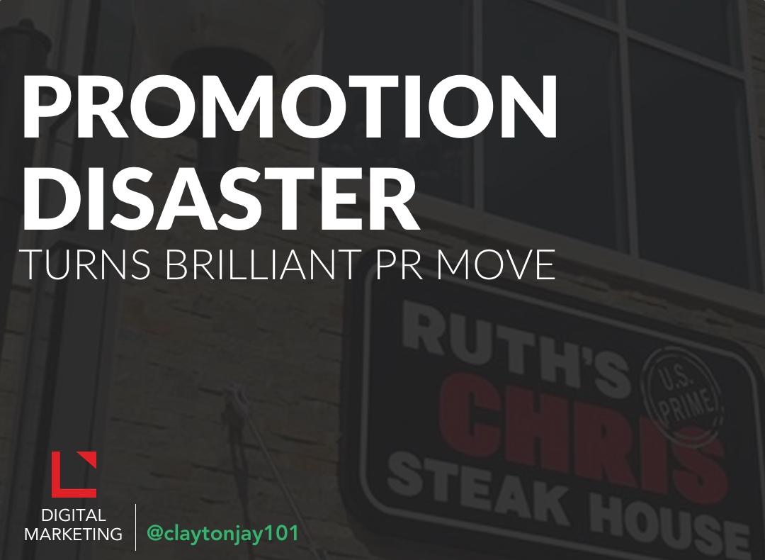 Ruth's Chris' failed social media promotion went viral on Facebook