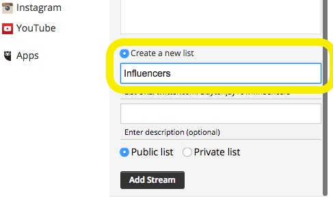 How to setup a Hootsuite Twitter Stream for competitor or company mentions on social media 2-3