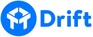 Logo for Drift, a provider of website chat software messaging app