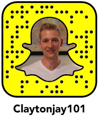 Claytonjay101 snapcode for social media marketing on the social network Snapchat