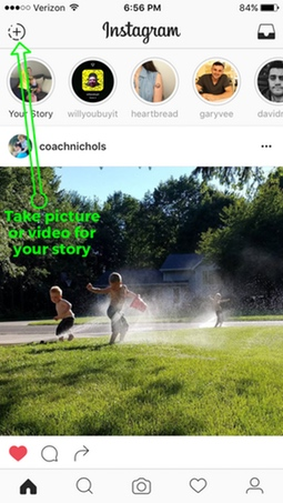 Add picture or video to Instagram Stories 1