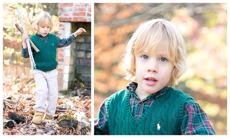 Wesley in the autumnal woods of Massachusetts