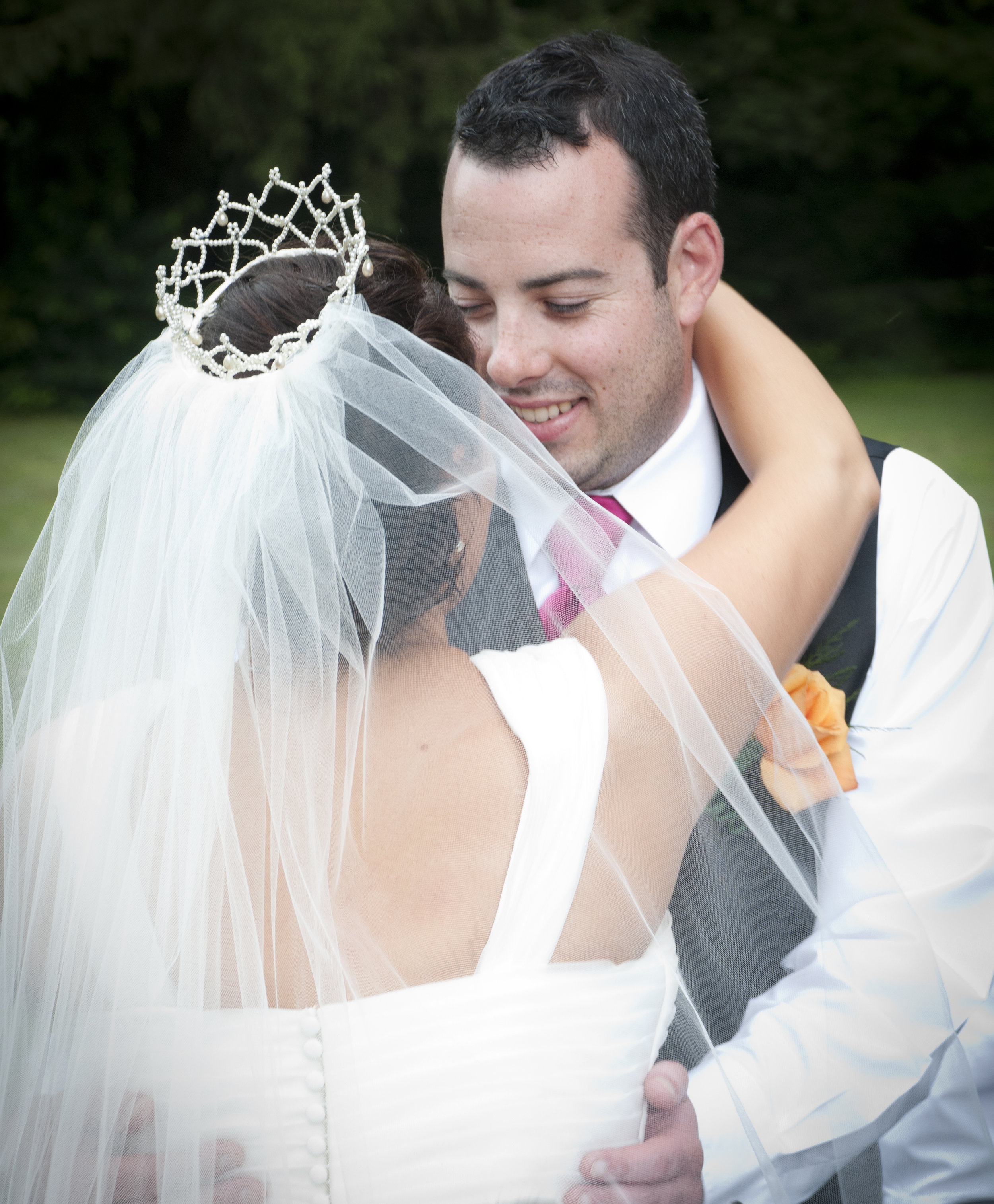 Christie & Ricky Kovacs on their wedding day at Miss Hall's School for Girls in Pittsfield, MA.