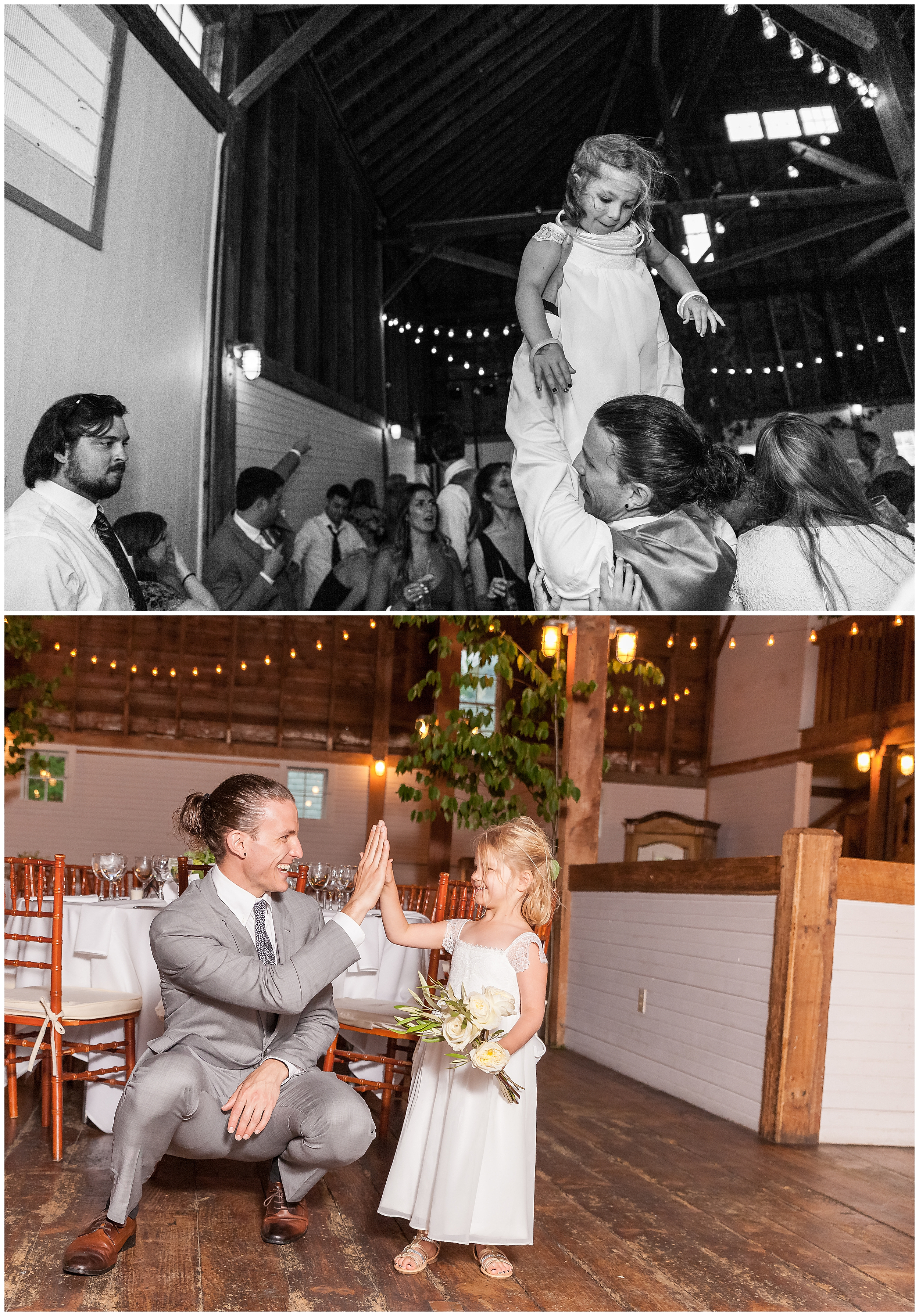 Especially the best man and one of the flower girls!