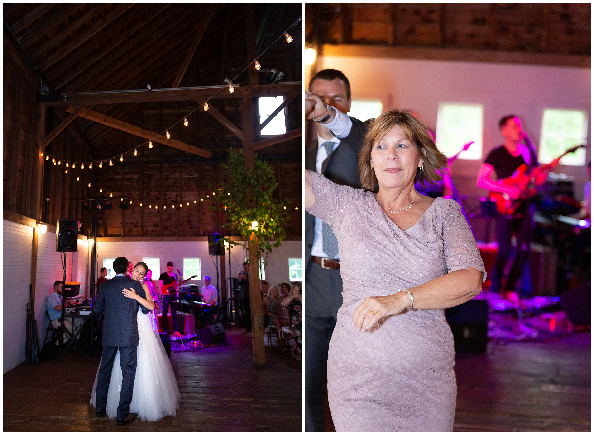 Father-Daughter dance is sweet and slow while Mother and Son twirl about.