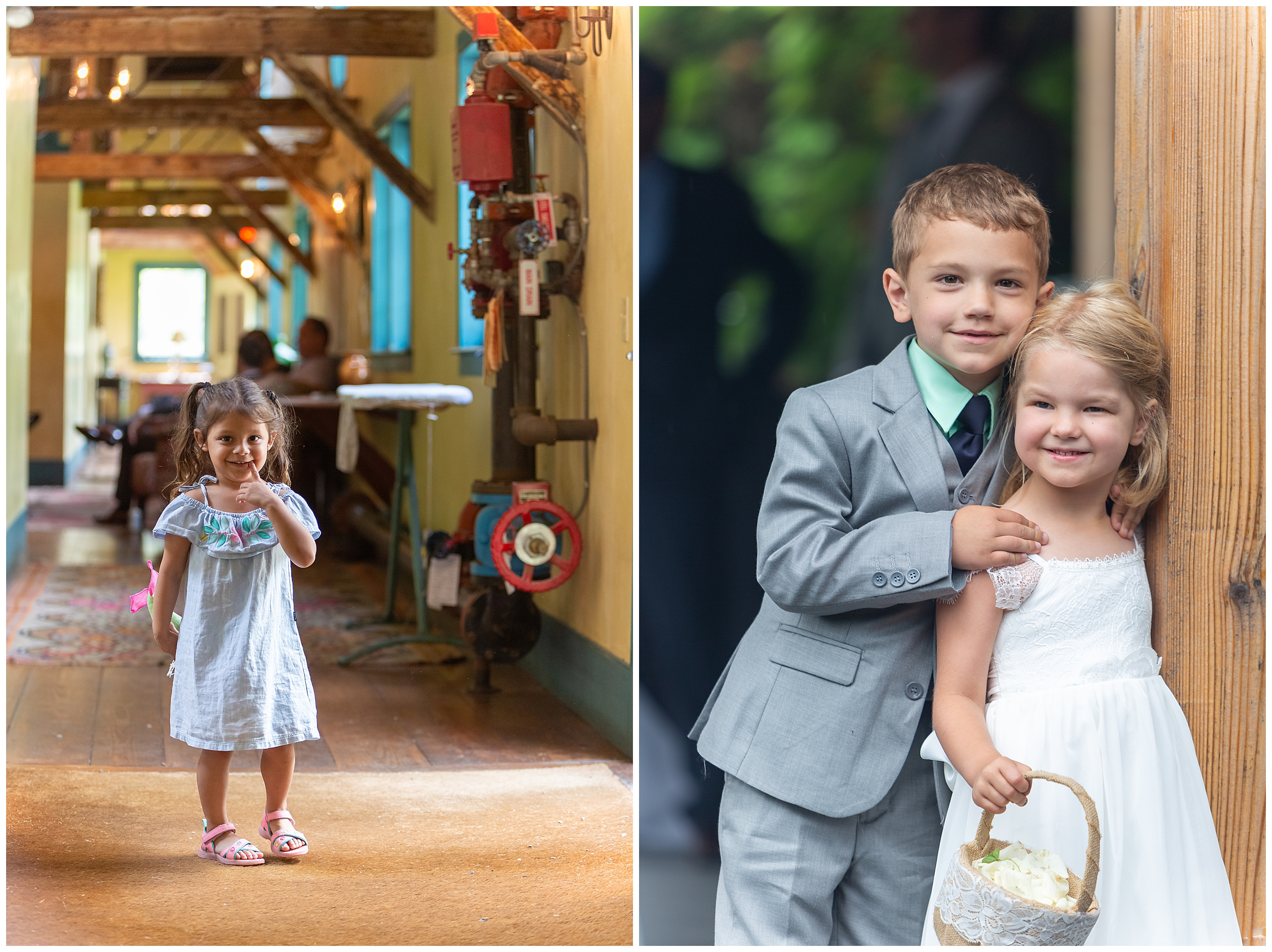 Certainly no shortage of sweet children at this wedding.