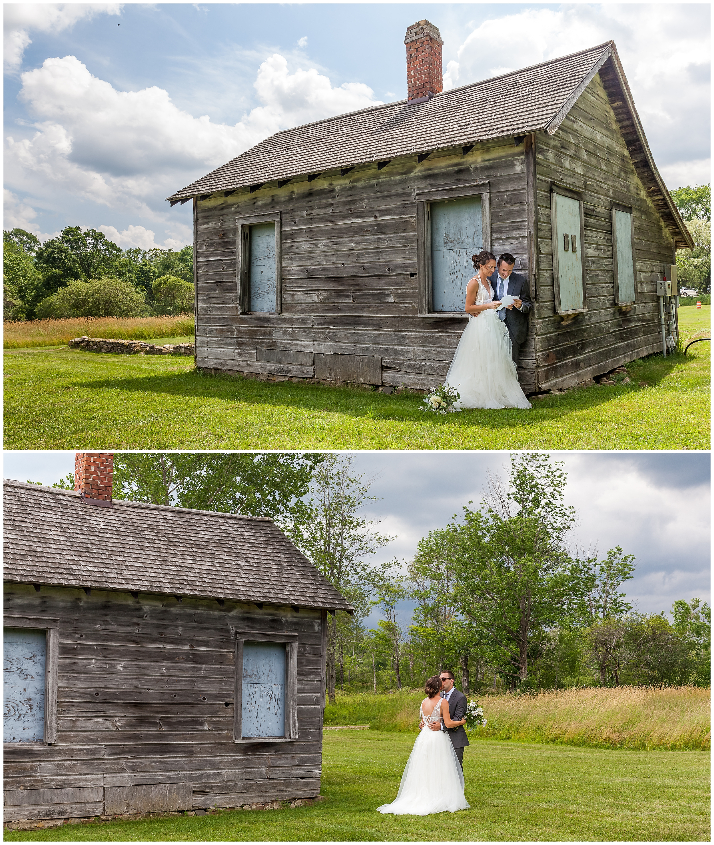 As sun turns to clouds, the couple weathers the storm like champions and focus on the excitement of having an intimate wedding in the loft where guests would stand around them.