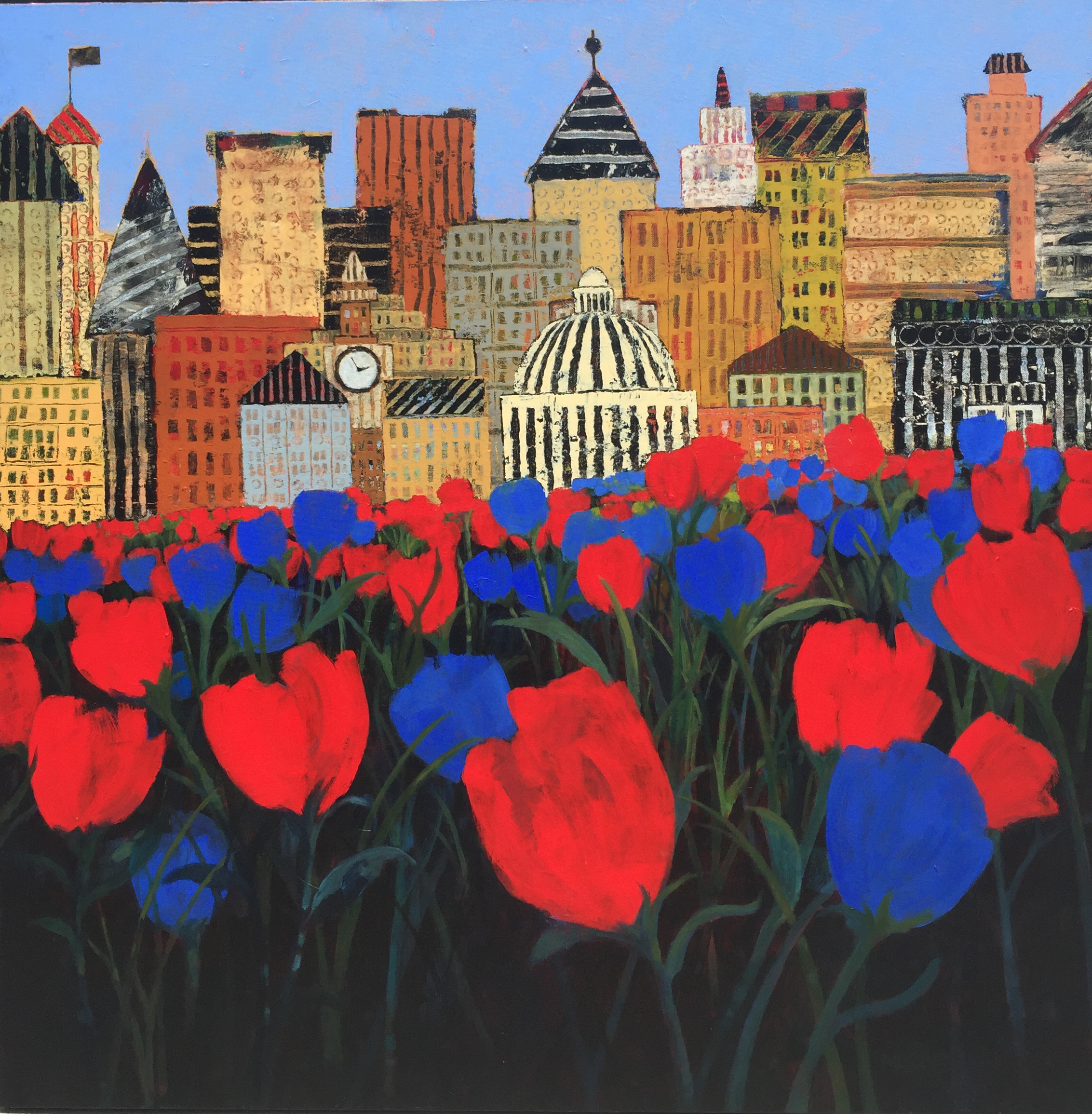 Town and Tulips