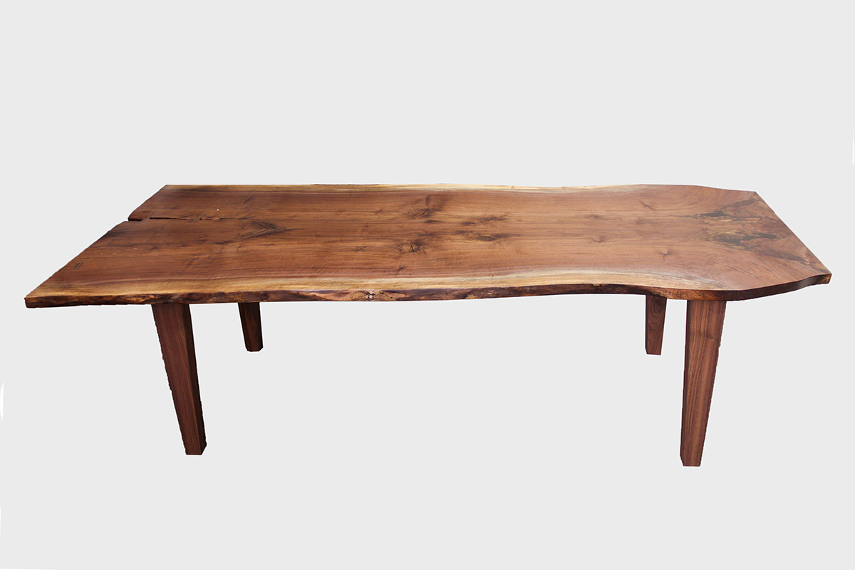 Bookmatched Walnut Table