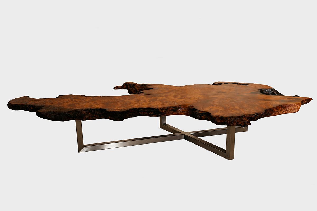 Redwood Burl Coffee Table