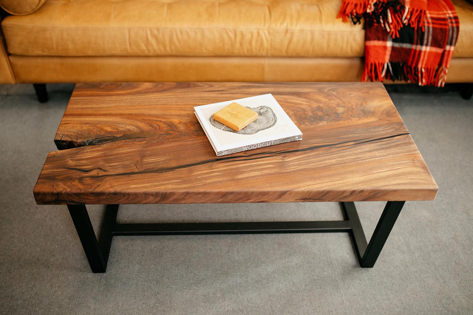 Modern Walnut Coffee Table
