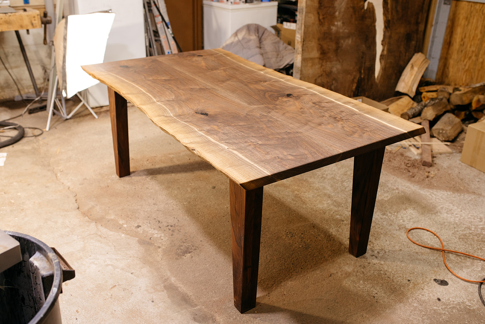Bookmatched Walnut Farmhouse Table