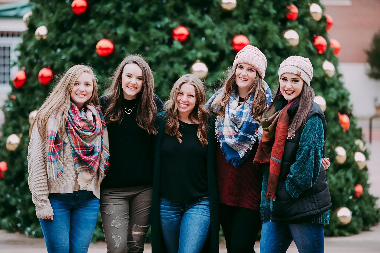Amanda Lynn Photography Elite Senior Model Team downtown Oklahoma City Christmas photoshoot.