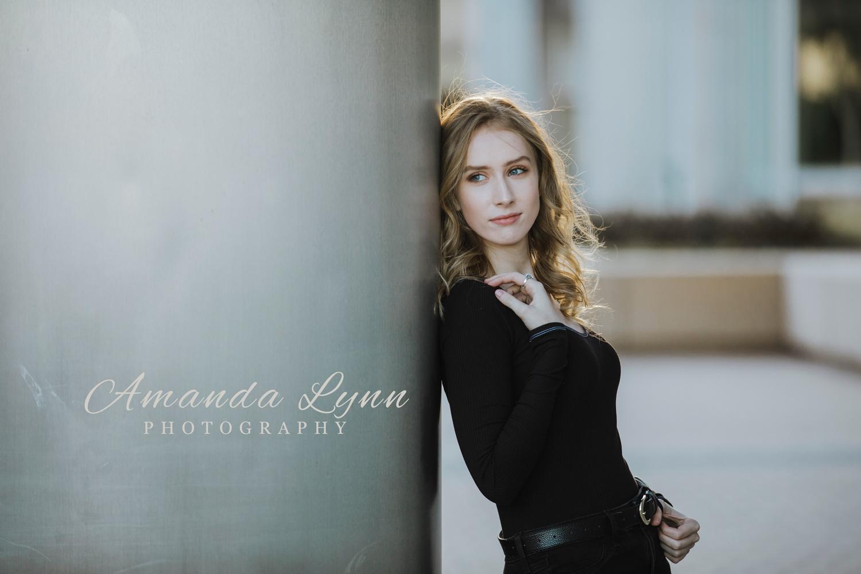High school senior girl photoshoot in downtown Tulsa.