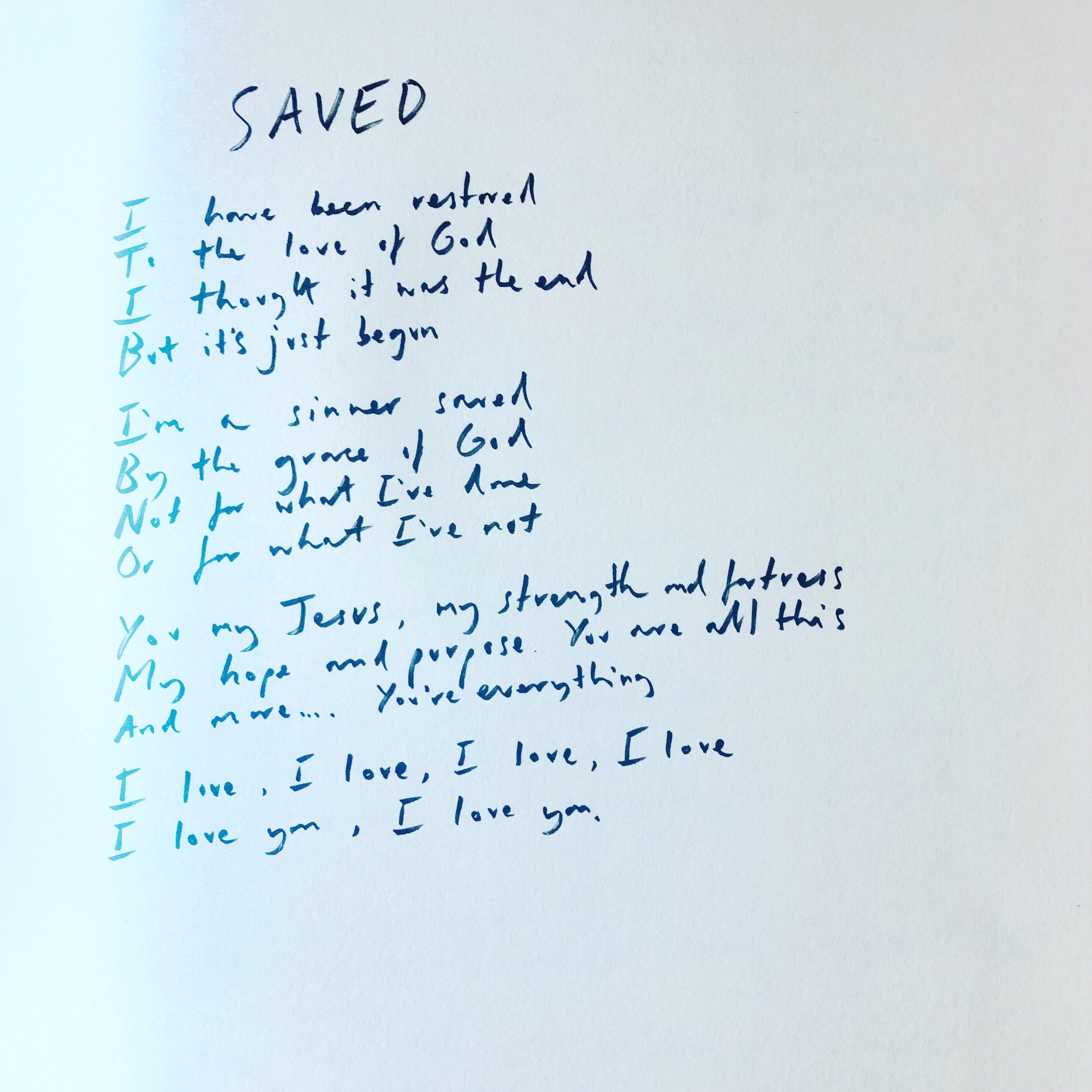 Handwritten Saved