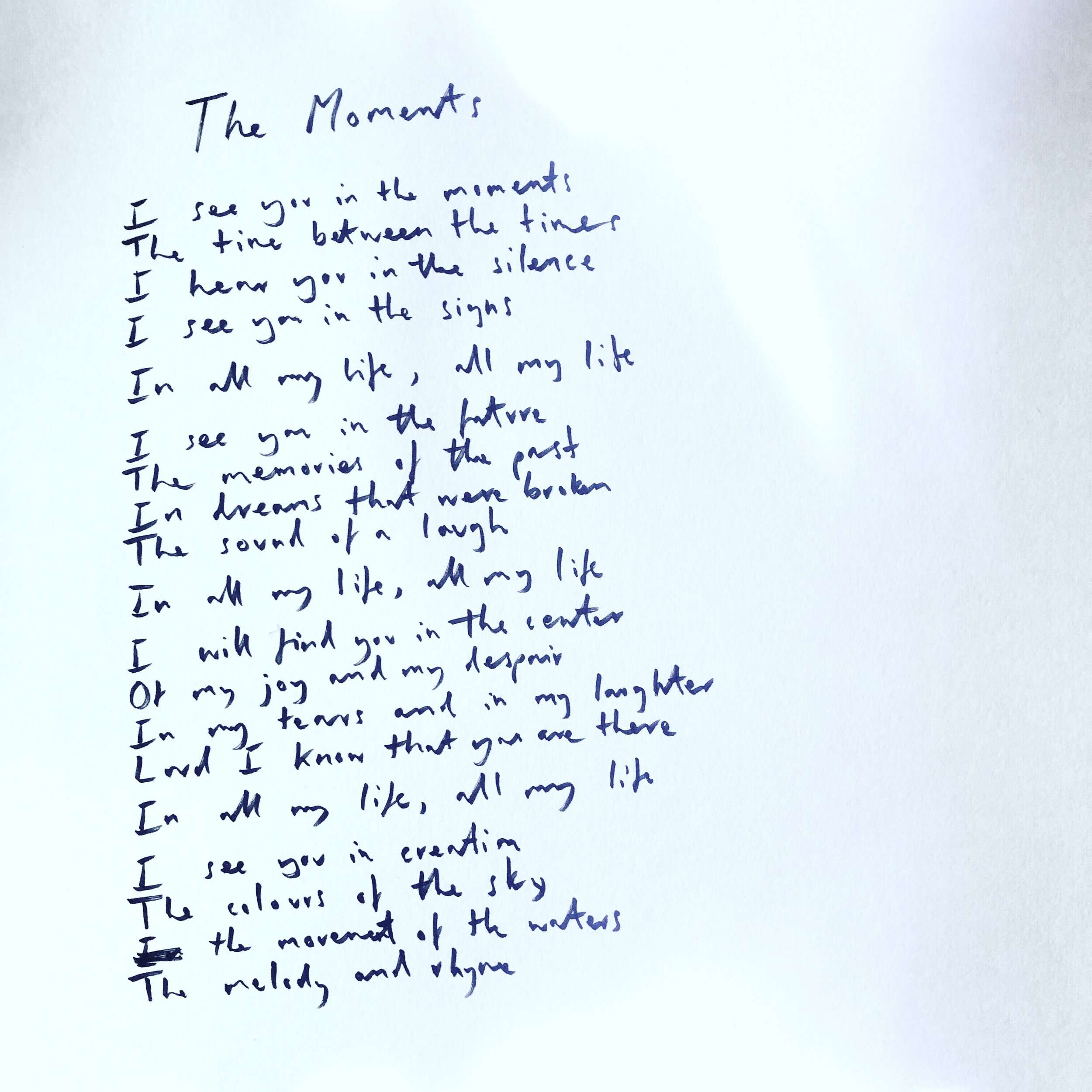 Handwritten The Moments